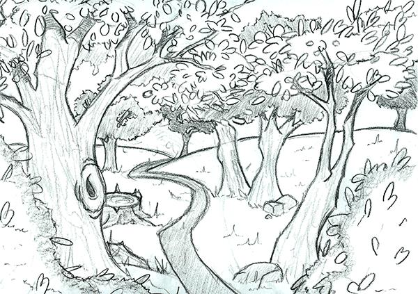 Bosque dibujo - Imagui